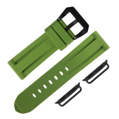 Apple Watch 蘋果手錶替用錶帶 舒適耐用 矽膠錶帶-綠色