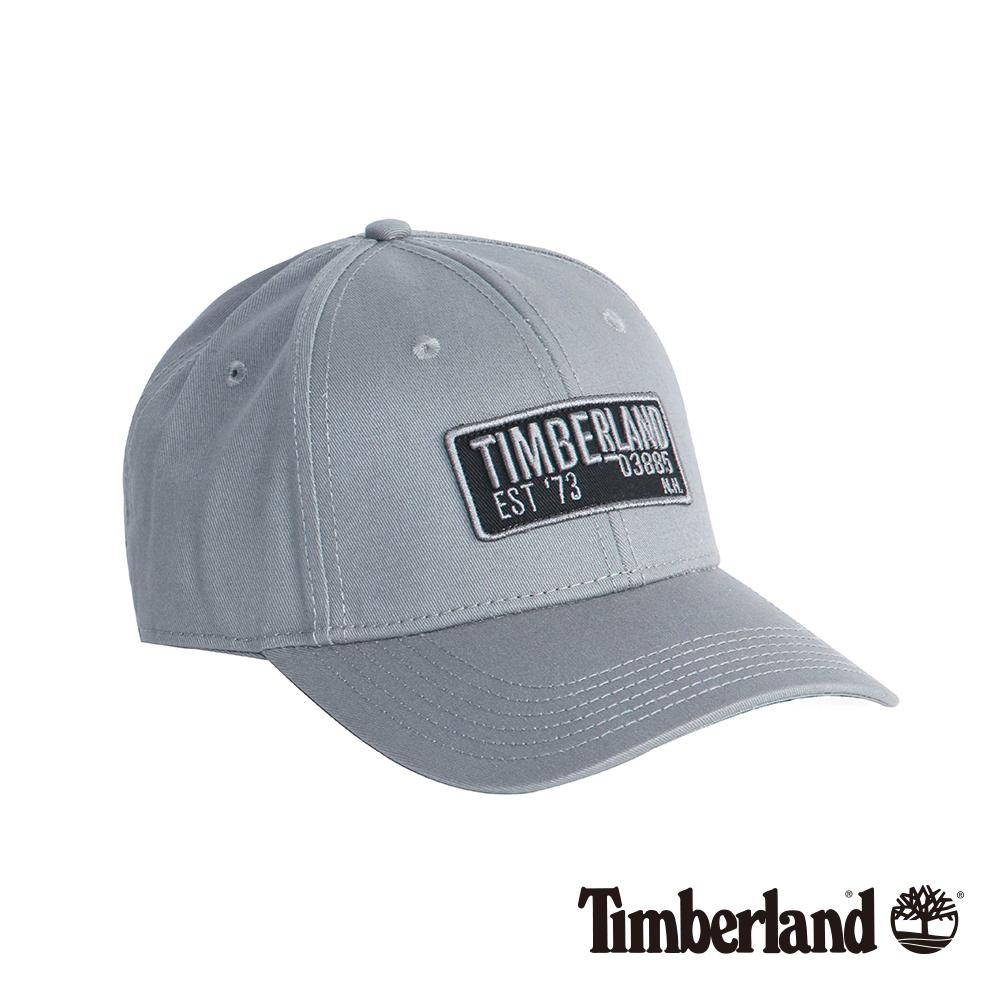 Timberland灰色刺繡斜織布棒球帽