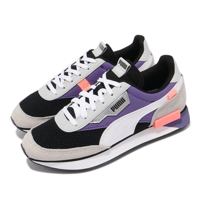 Puma 休閒鞋 Future Rider Galaxy 女鞋 海外限定 麂皮 撞色 穿搭推薦 黑 紫 37338501