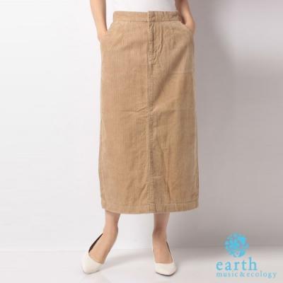 earth music 美國棉燈芯絨中長窄身裙