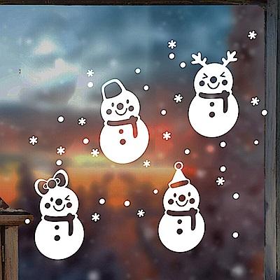 時尚壁貼- 聖誕雪人聖誕節