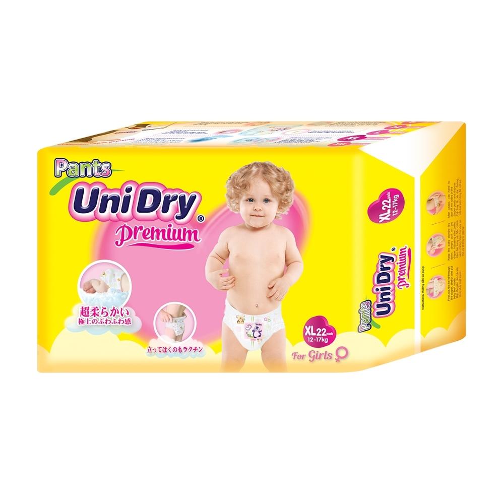 Unidry優力褲 嬰兒褲型紙尿褲特級版女生版XL(22片x8包/箱)(嬰兒紙尿褲 褲型紙尿褲)