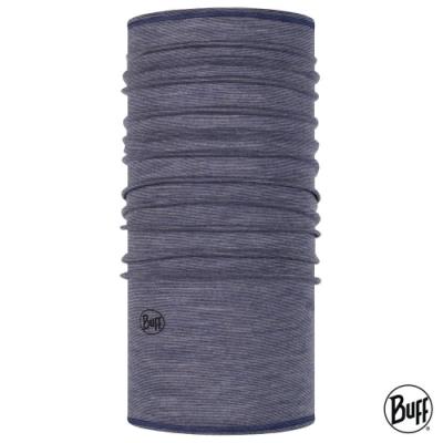 【西班牙BUFF】 舒適素面-美麗諾羊毛頭巾 丹寧髮紋