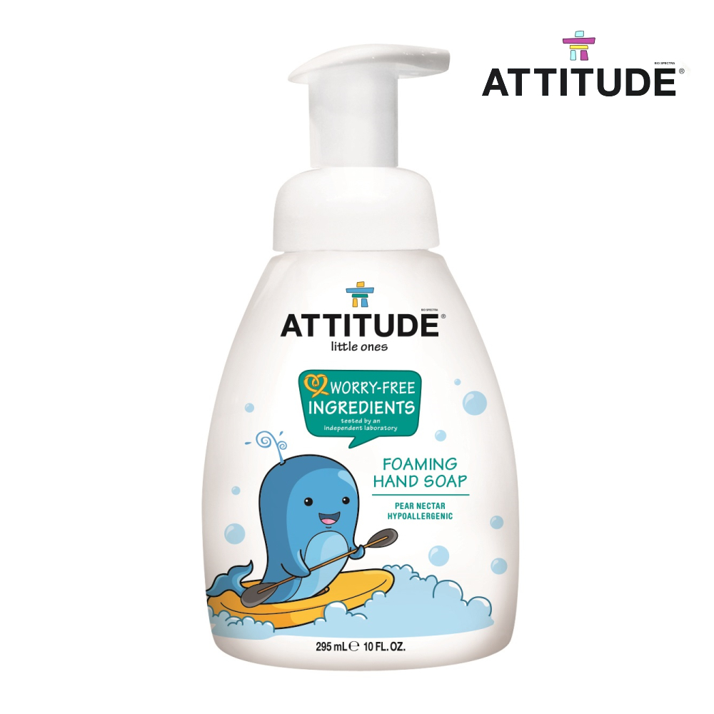 艾特優ATTITUDE 嬰幼兒泡沫洗手乳-梨花蜜-超值兩入組