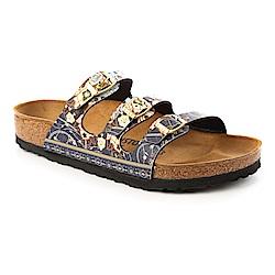 勃肯BIRKENSTOCK1009808FLORIDA三條復古拖鞋(馬賽克藍)