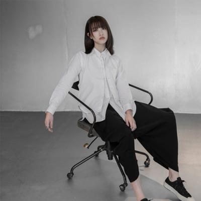 設計所在Style-新三本YS三宅風假兩件寬鬆韓版襯衫