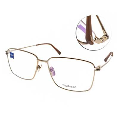 ZEISS蔡司眼鏡 沉穩經典方框/金 #ZS85008 F010