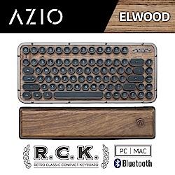 AZIO R.C.K. ELWOOD BT 藍牙核桃木短版中文鍵盤(PC/MA