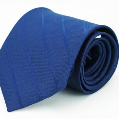 Alpaca 深藍寬窄斜紋領帶fast