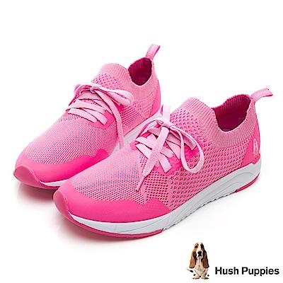 Hush Puppies Egret 襪套式健走鞋-粉紅色