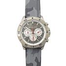 MICHAEL KORS Theroux簡約刻度迷彩錶帶手錶(灰)