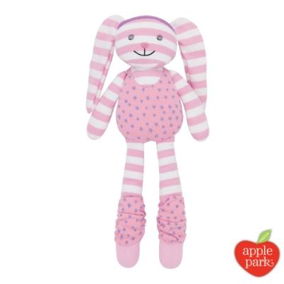 【美國 Apple Park】農場好朋友 有機棉安撫玩偶 - 嘻哈粉紅兔