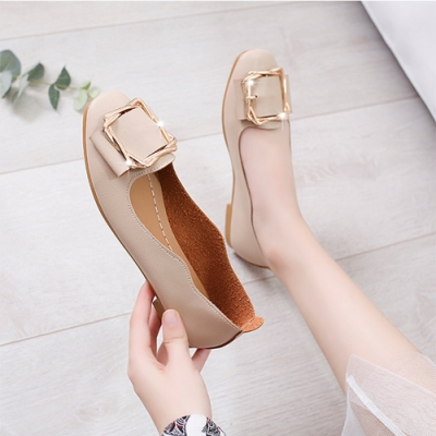 KEITH-WILL時尚鞋館 柔美氛圍平底鞋-米色