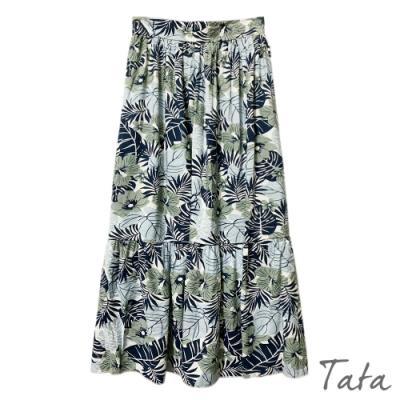 花朵印花抓摺半身裙 共二色 TATA-F