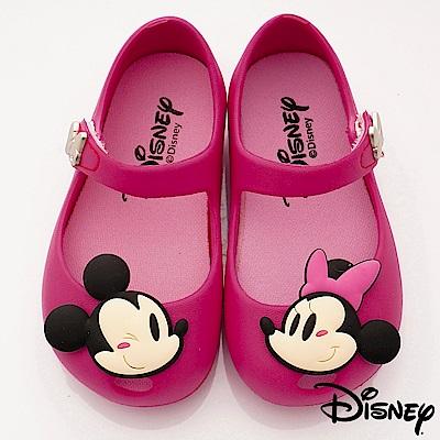 迪士尼童鞋 米奇米妮不對稱娃娃鞋款 ON19346桃(小童段)