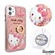三麗鷗 Kitty iPhone 11 6.1吋施華彩鑽全包鏡面指環雙料手機殼-燭光凱蒂 product thumbnail 1