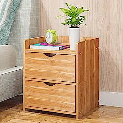 【Incare】簡約時尚-雙抽屜楓葉木床邊收納櫃(40*30*36公分)
