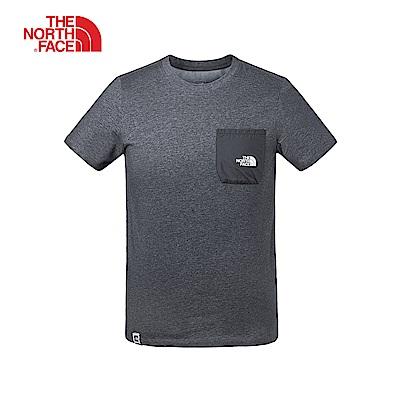 The North Face北面男款黑色吸濕排汗短袖T恤|3V3TKS7
