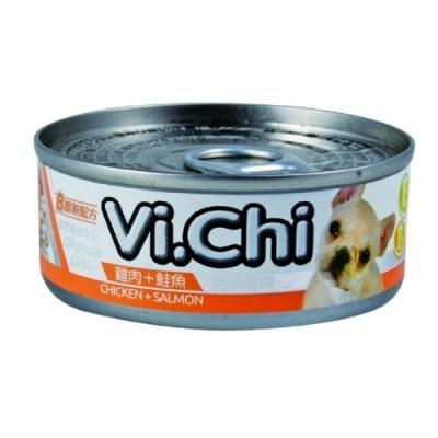 維齊Vi.Chi 《經典 機能狗罐-雞肉+鮭魚》80g 24罐組