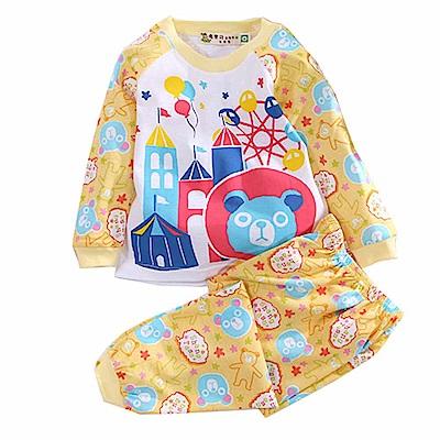 印花薄長袖居家套裝 k50634 魔法Baby