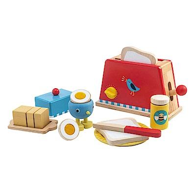 Tender Leaf Toys木製家家酒玩具-營養滿分早餐組玩具(烤麵包機)