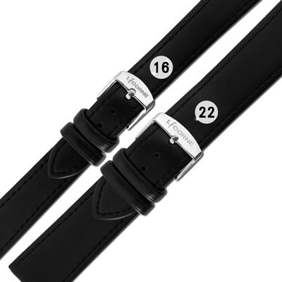 LICORNE 力抗 各品牌通用 百搭款 柔軟舒適 原廠真皮錶帶 黑色