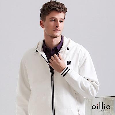 歐洲貴族 oillio 連帽外套 素面款式 方型鏽標 白色