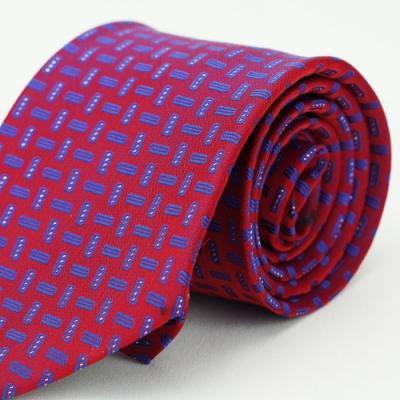 Alpaca 紅底藍花紋領帶