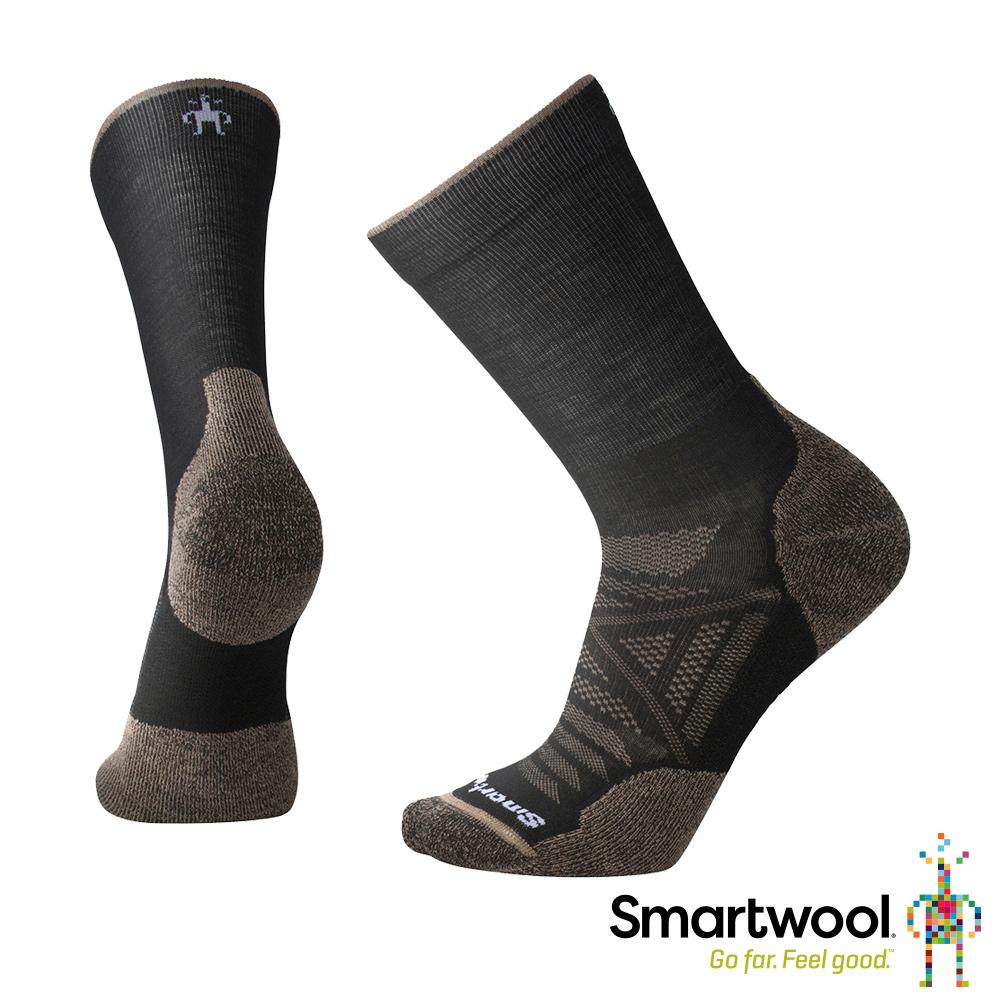 SmartWool PhD戶外 輕量減震中長襪 黑/棕