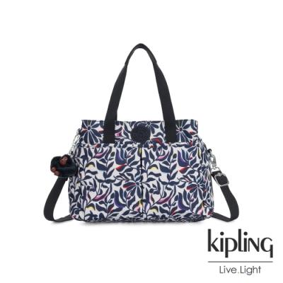 Kipling 舞動炫彩點綴花卉大容量手提兩用包-KENZIE