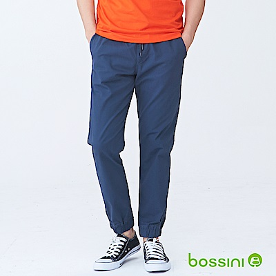 bossini男裝-輕鬆彈性束口長褲02海軍藍