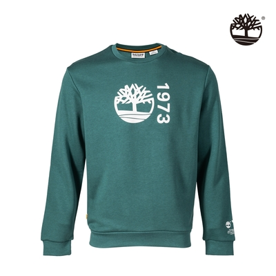 Timberland 男款草綠色有機棉Re-Comfort EK+標誌大學T A42YRJ74