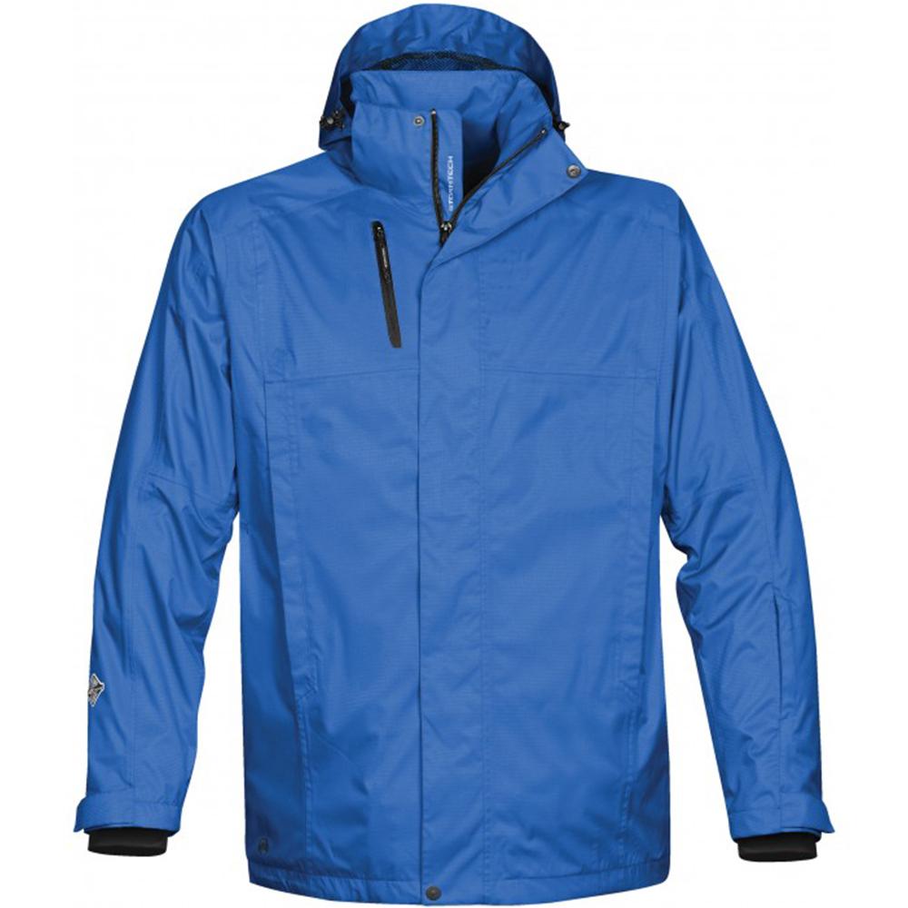 加拿大STORMTECH頂級防風防水長版機能修身大衣-男-藍
