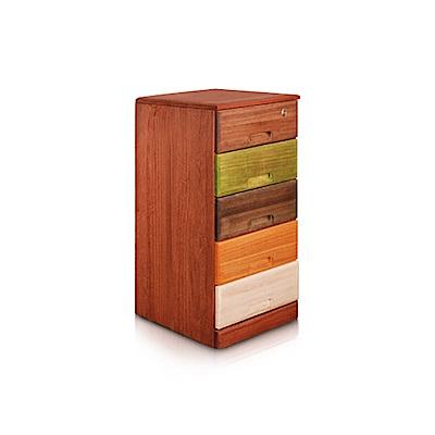 桐趣_木。工房5抽實木收納櫃