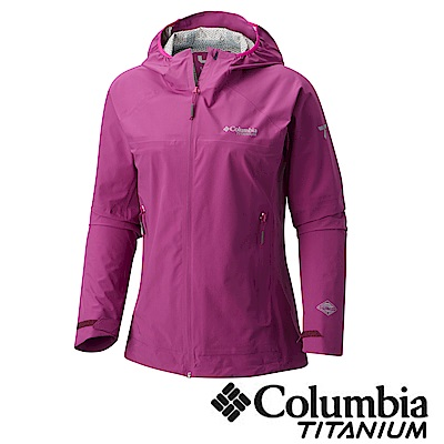 Columbia哥倫比亞 女款-鈦Omni-Tech防水連帽外套URR01610PL