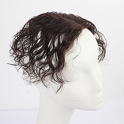 米蘭精品 假髮片真髮絲-16cm短捲髮頭頂補髮女假髮母親節禮物2色73us27