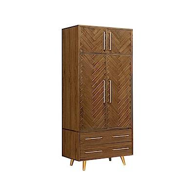 H&D 普萊斯3尺雙門衣櫥
