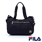 FILA女性質感系手提側背包-經典黑