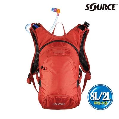 SOURCE 戶外健行水袋背包 Fuse 8L 2054129108|背包8L/水袋2L|橘色