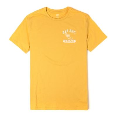 GAP 經典Logo設計短袖T恤-黃色