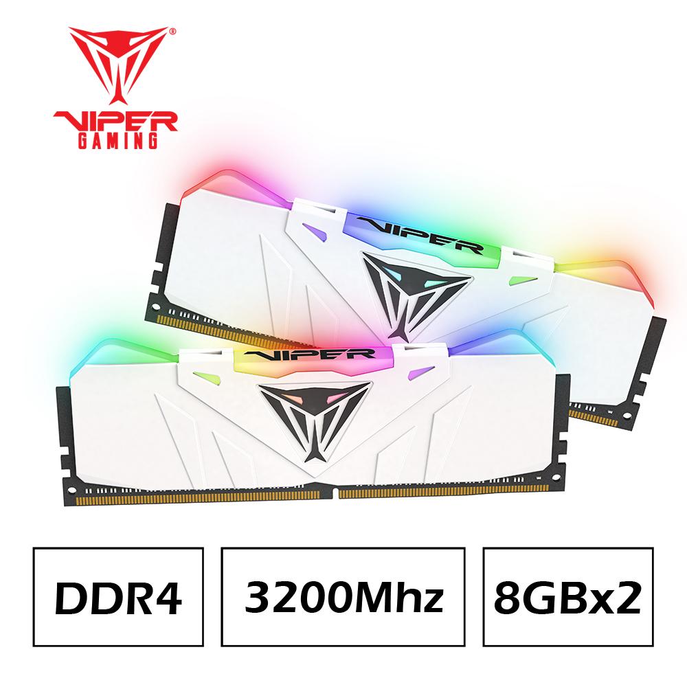 VIPER美商博帝 RGB White DDR4 3200 16G(2x8G)桌上型記憶體