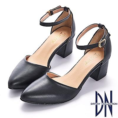DN 微甜浪漫 知性經典尖頭瑪莉珍跟鞋-黑