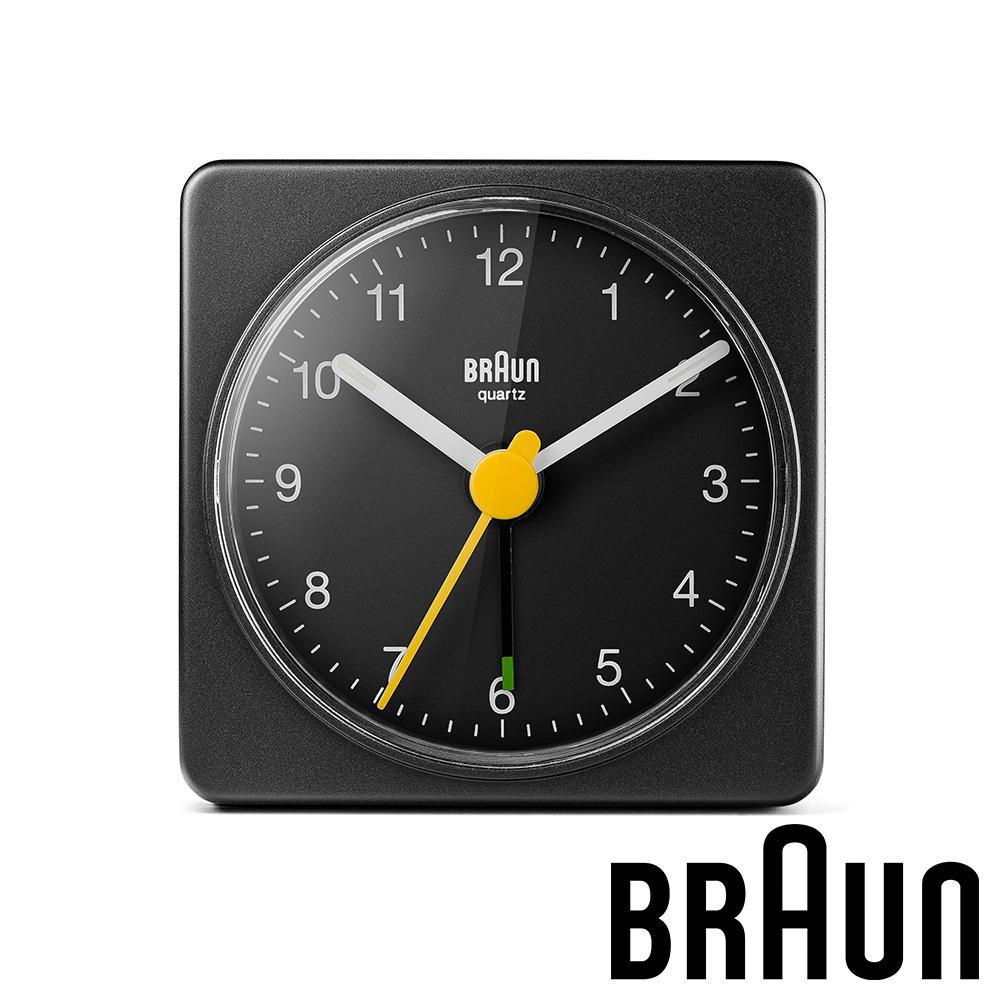 德國百靈 BRAUN 復刻嚴選簡約旅行鬧鐘 (BC02B)-質感黑