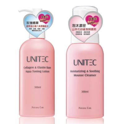 UNITEC彤妍 山茶花基礎保養組(慕斯+機能水)