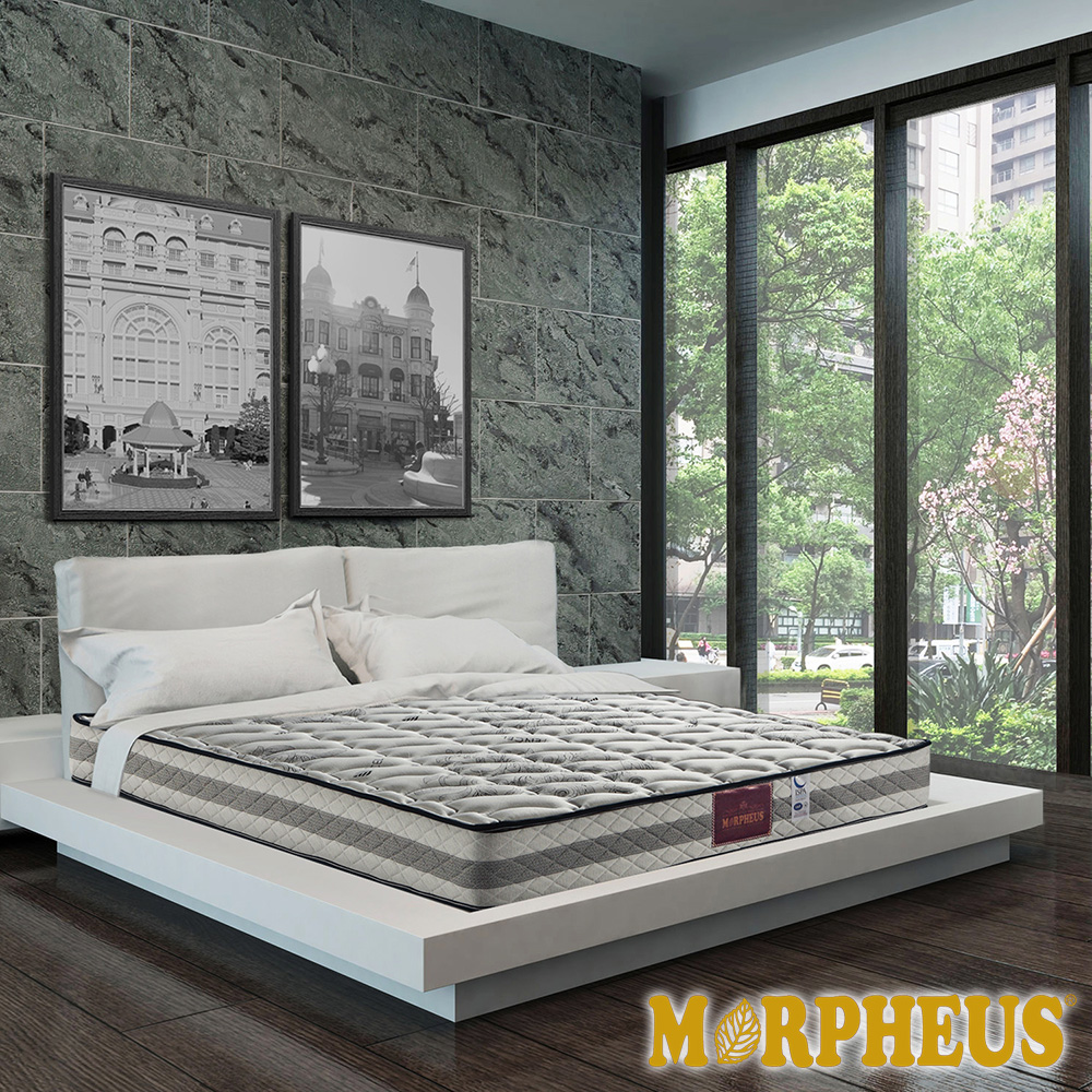 夢菲思 天絲棉+竹碳紗+羊毛+透氣強化蜂巢式獨立筒床墊-雙人加大6尺