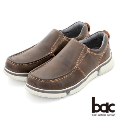 【bac】陽光樂活 帥氣馬克縫線休閒鞋-咖啡色