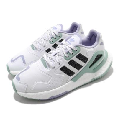 adidas 休閒鞋 Day Jogger 流行款 女鞋 愛迪達 三葉草 緩震 Boost底 穿搭 白 綠 H03262