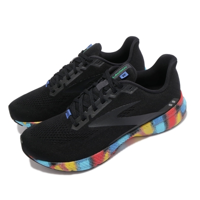 Brooks 慢跑鞋 Launch 8 運動休閒 男鞋 平穩型 避震 回彈 透氣 合腳 黑 彩 1103581D016