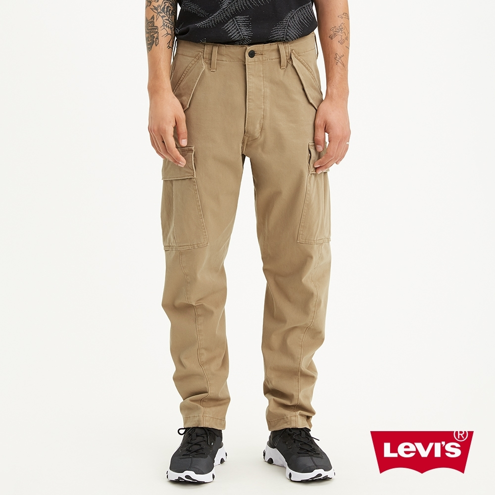 Levis 男款上寬下窄541低腰寬鬆排釦休閒工作褲 LEJ 3D褲 彈性