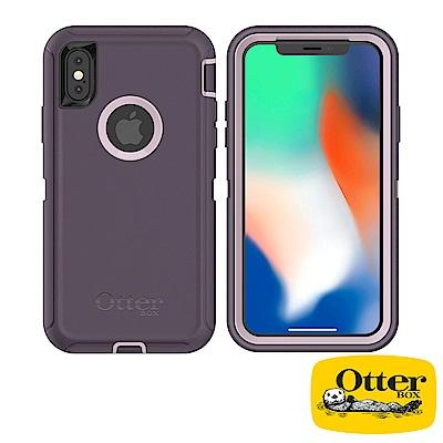 OtterBox iPhoneX防禦者系列保護殼-醇紫